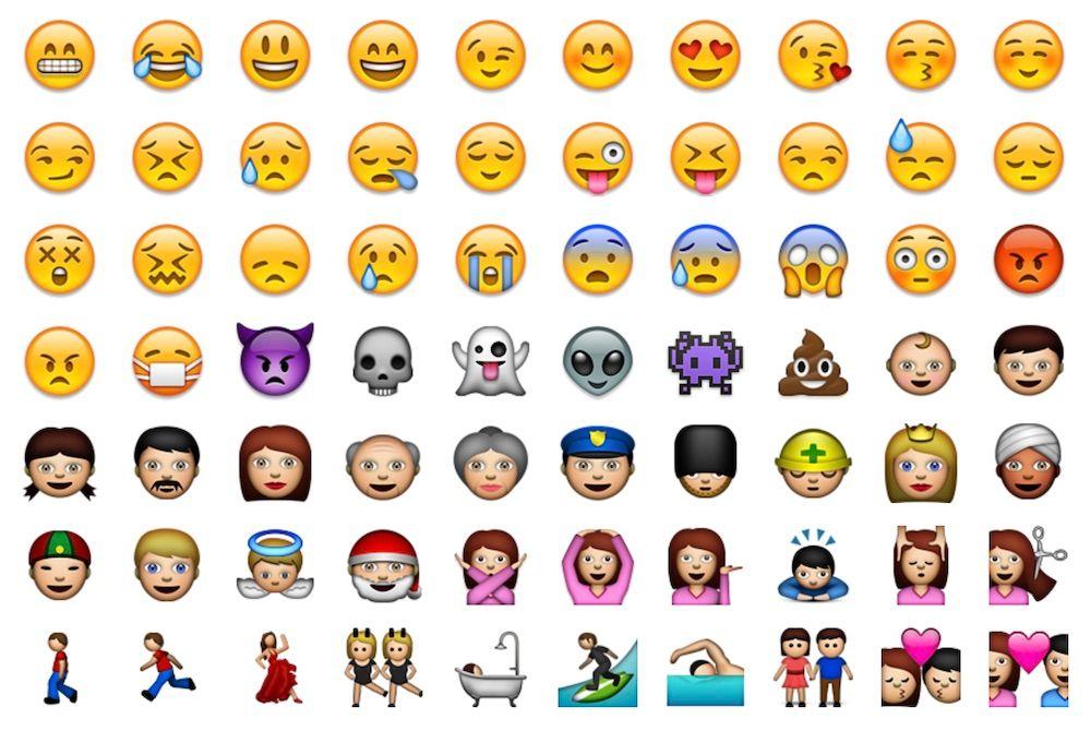 Przykład oryginalnych Emoji z systemu iPhone OS 2.2 z 2008 r.