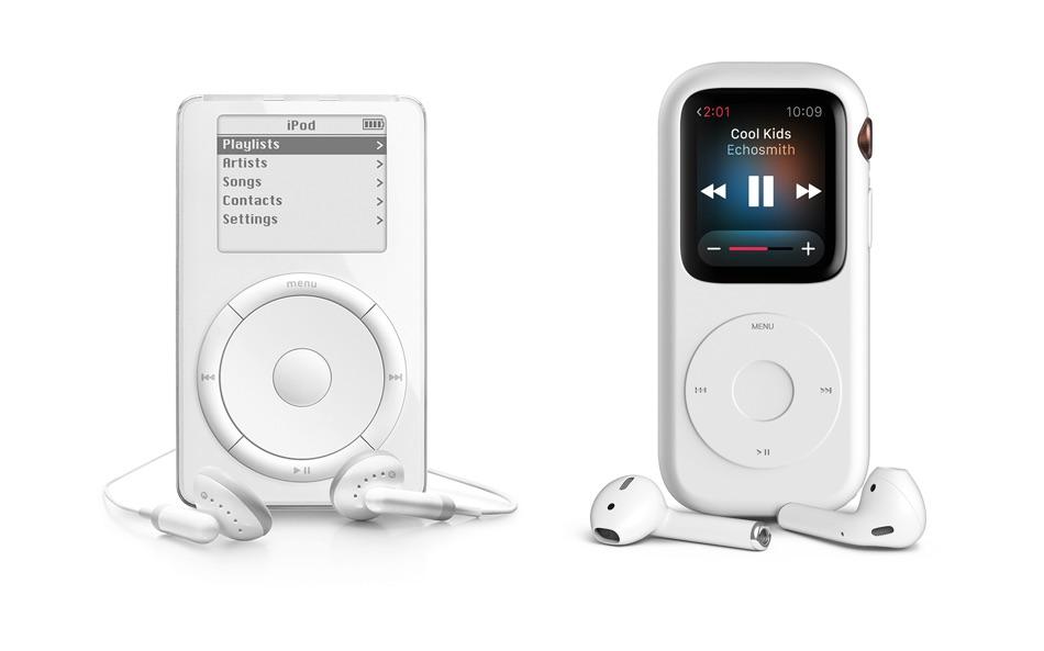 Apple Watch Series 4 w etui przypominającym iPoda