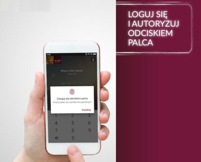 """Logowanie i autoryzacja transakcji odciskiem palca (iOS, Android) w aplikacji mobilnej """"Alior Bank"""""""