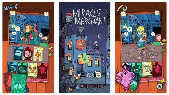 "Zrzut ekranu z gry mobilnej ""Miracle Merchant"""