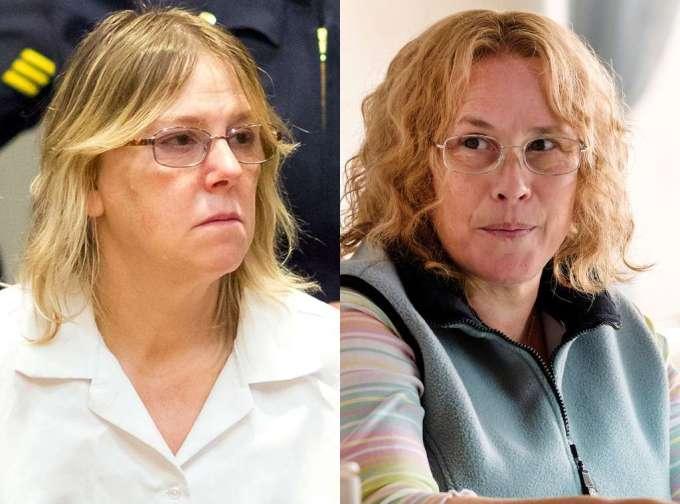 """Joyce """"Tilly"""" Mitchell (po lewej) i Patricia Arquette ucharakteryzowana na Tilly (po prawej)"""