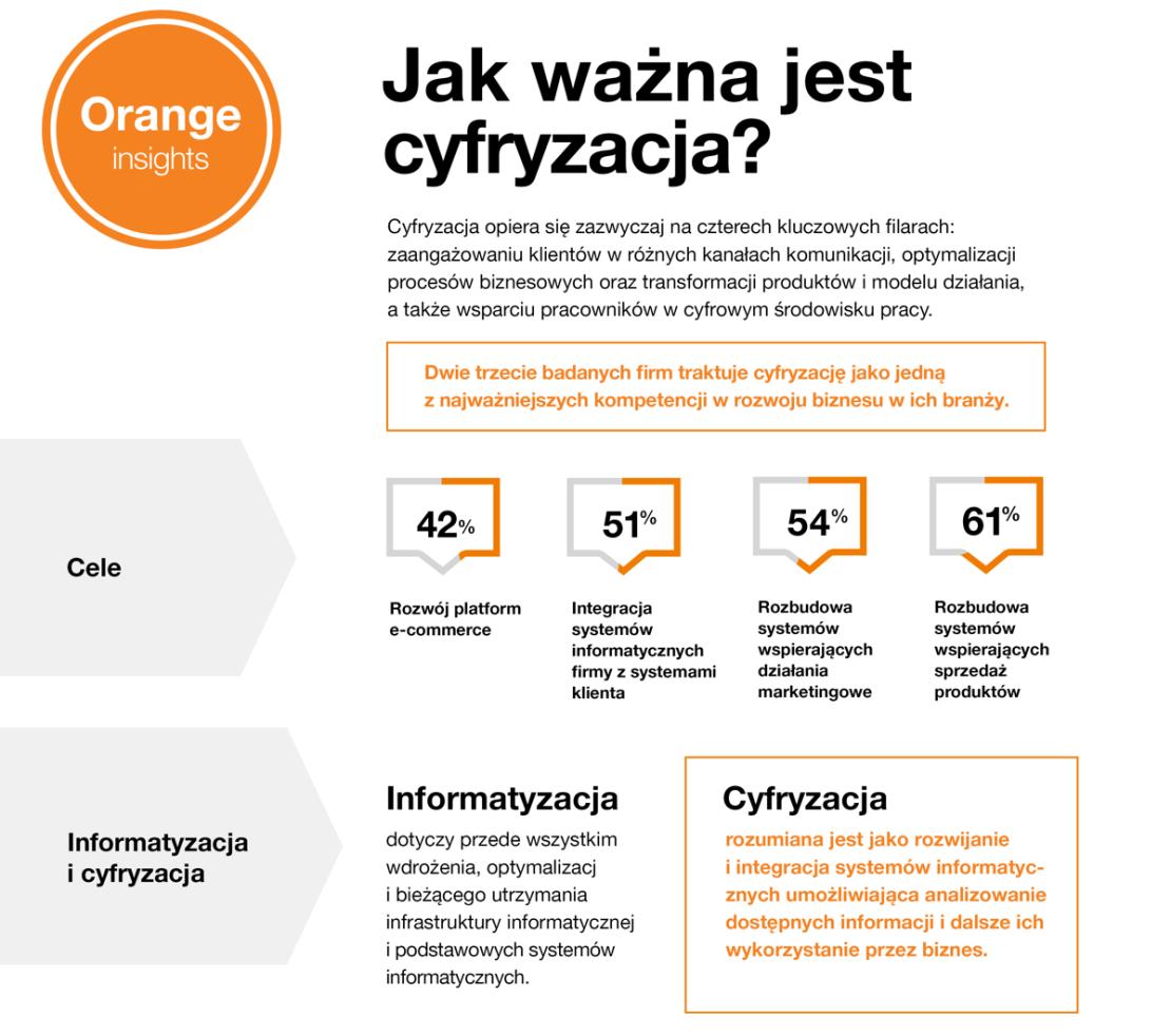 infografika: Jak ważna jest cyfryzacja? (Orange Insights 2018)