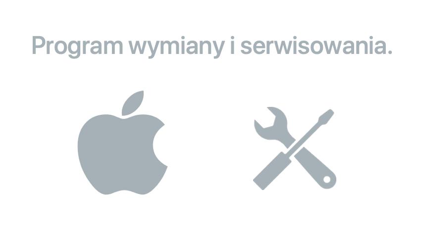 Program wymiany i serwisowania firmy Apple.