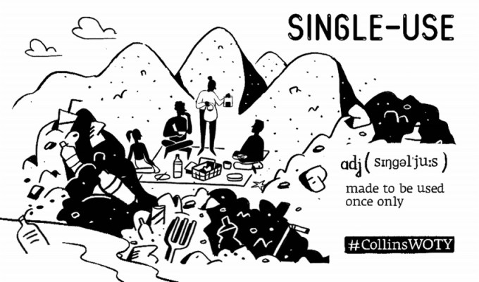 """Single-use"" THE COLLINS WORD OF THE YEAR 2018"