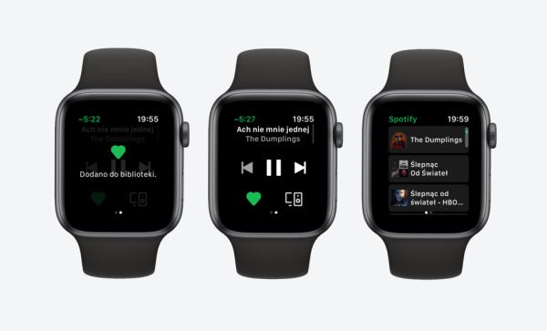 Spotify oficjalnie z aplikacją na Apple Watcha