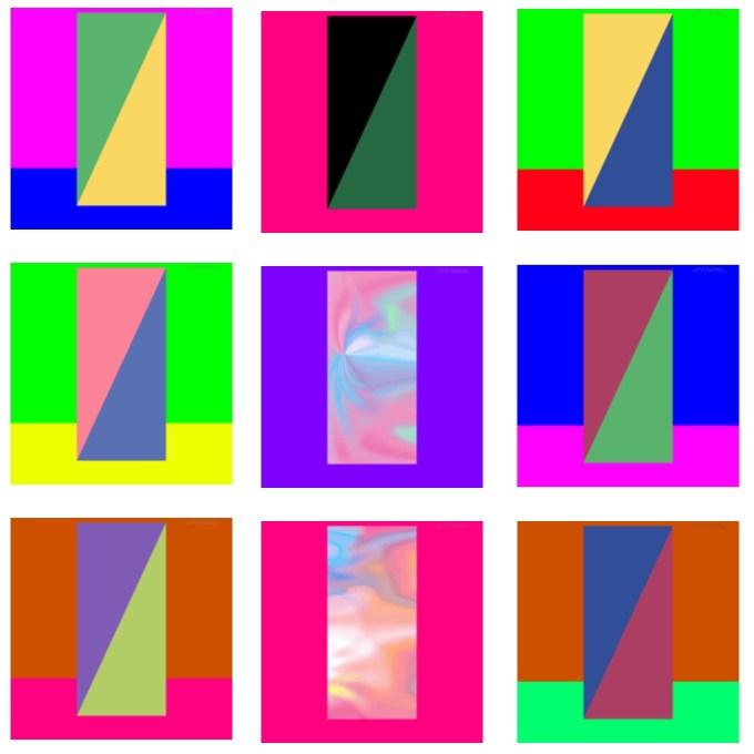 Przykłady tapet zmieniających kolory elementów systemowych ekranu