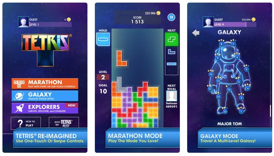 Zrzuty ekranu z gry mobilnej TETRIS (EA)