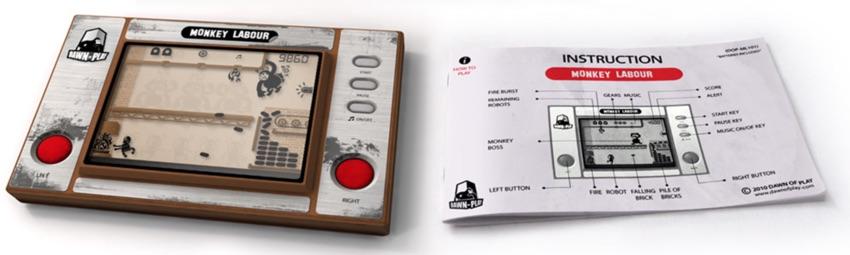 Monkey Labour - 80s handheld LCD retro game
