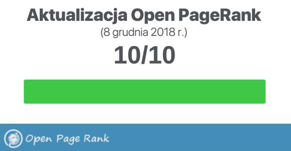 Aktualny Open PageRank stron WWW (grudzień 2018)