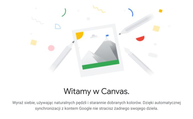 Aplikacja internetowa Google Canvas