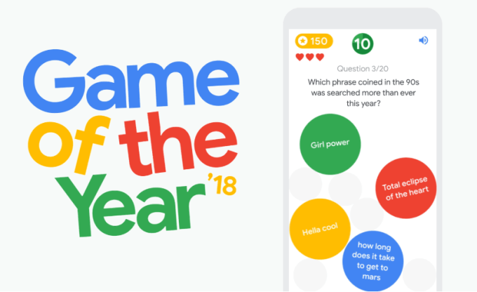 """Game of the Year"" 2018 Google"