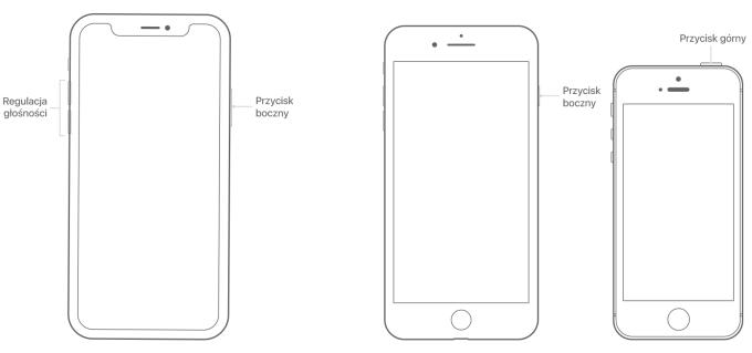 Przyciski restartu w różnych modelach iPhone'a