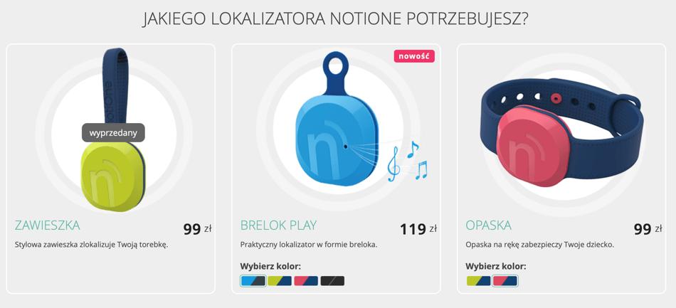 Lokalizator notiOne - ceny w Polsce