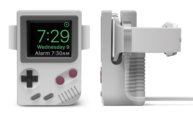 W5 Stand Elago - stojak na Apple Watcha (widok z przodu i z boku)