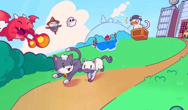 """Platformówka """"Super Cat Tales 2"""" w stylu gier z lat 90."""