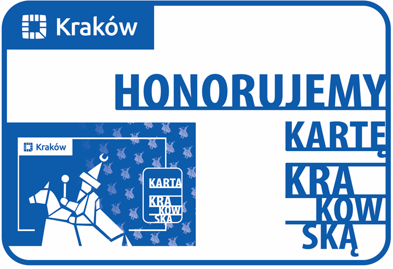 "Wzór karty ""Honorujemy Kartę Krakowską"""