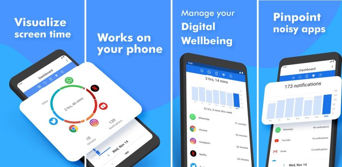 Zrzuty ekranu z aplikacji Action Dash