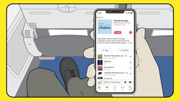 Apple Music w American Airlines bez potrzeby kupowania Wi-Fi