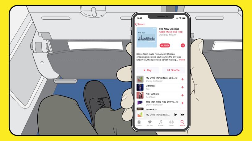Muzyka z Apple Music za darmo przez Wi-Fi w American Airlanes