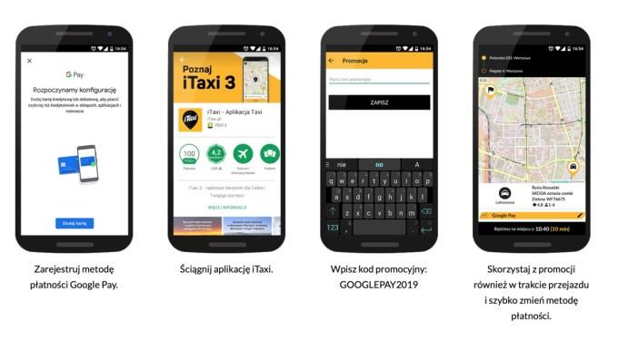 Instrukcja promocji iTaxi i Google Pay (styczeń 2019)