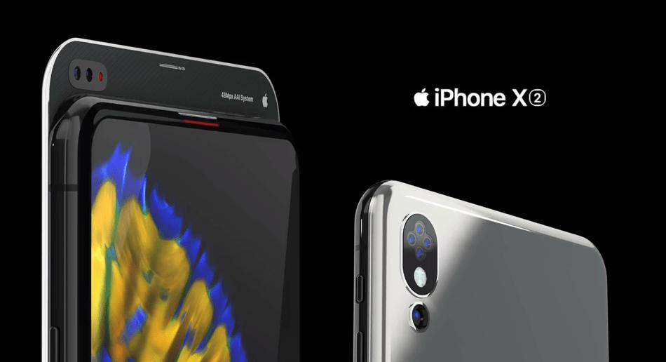 Koncepcja iPhone'a X2 z przodu i z tyłu