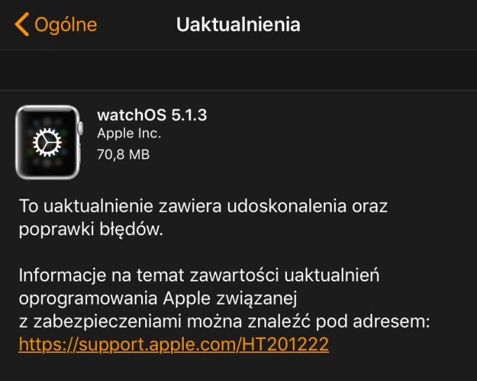 watchOS 5.1.3 (update OTA)