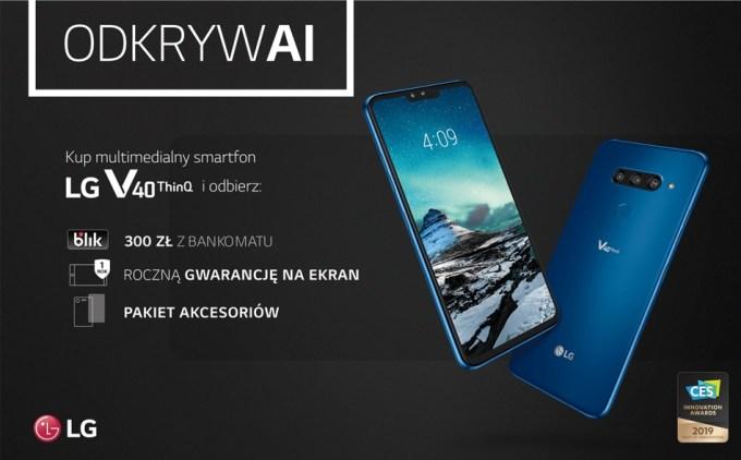 LG V40 ThinQ kusi nową promocją o wartości 1000 zł