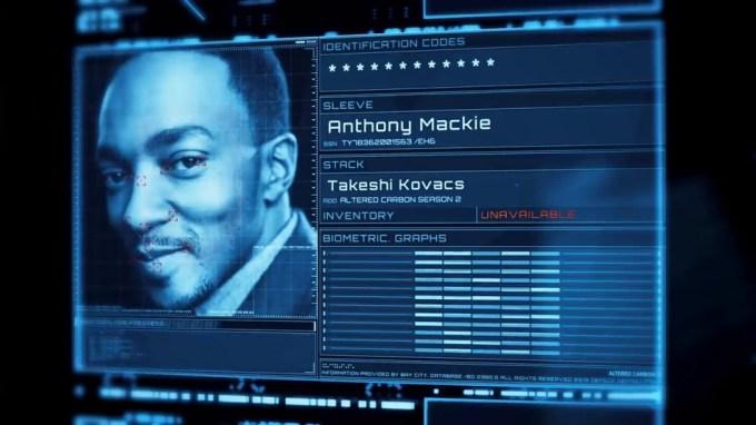 """Anthony Mackie jako Takeshi Kovacs w """"Altered Carbon 2"""""""