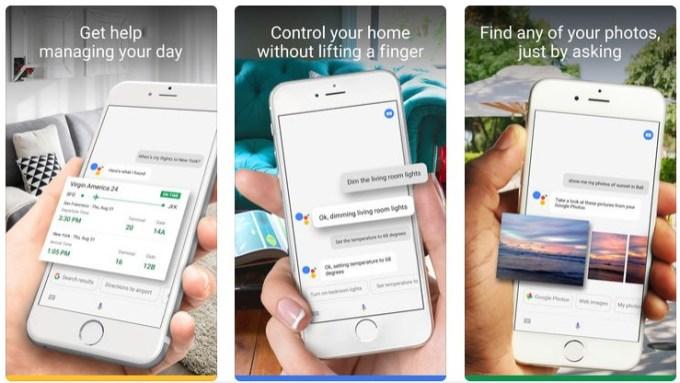 Screen aplikacji Asystent Google na iOS-a