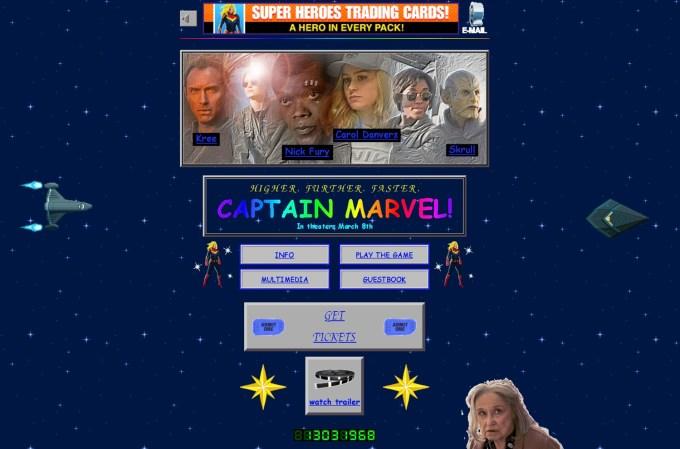 Zrzut ekranu ze strony marvel.com/captainmarvel