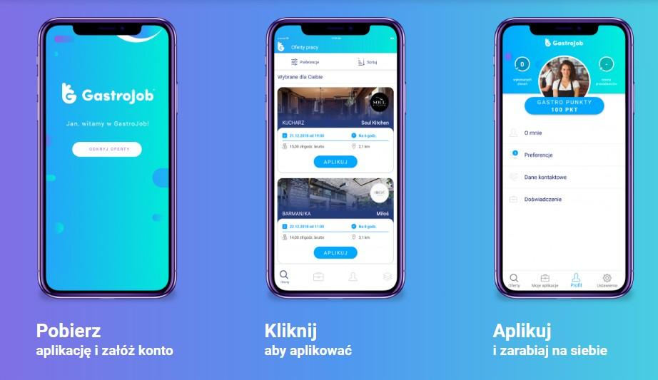 Aplikacja mobilna GastroJob