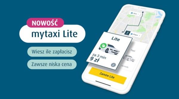Usługa mytaxi Lite z gwarantowaną ceną za przejazd z góry!