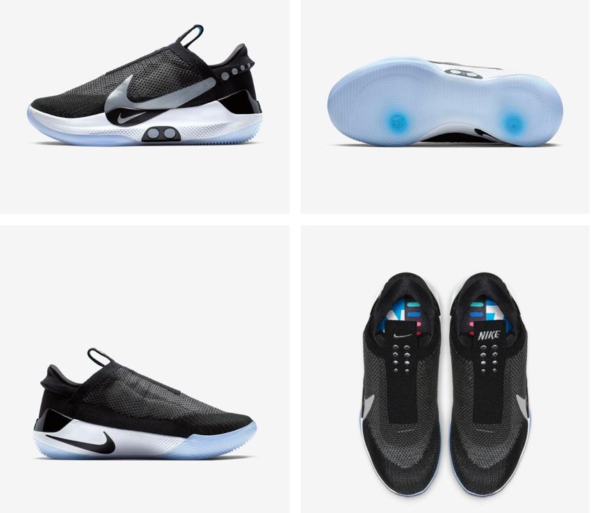 Wygląd butów Nike Adapt BB z różnych stron