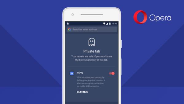 Opera z wbudowanym VPN-em ponownie w przeglądarce na Androida