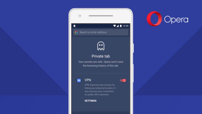 Tryb prywatny przez sieć VPN w przeglądarce Opera