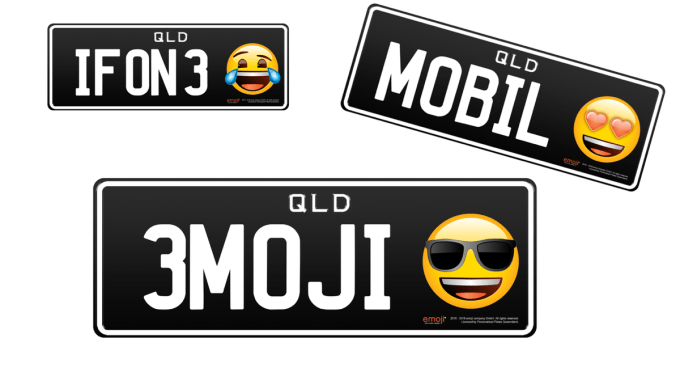 Australijskie tablice rejestracyjne z Emoji