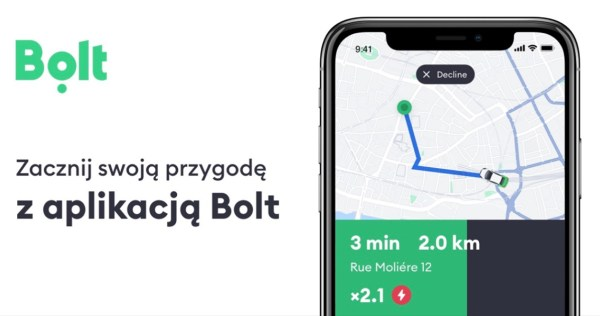 Taxify zmienia od dziś logo i nazwę na Bolt