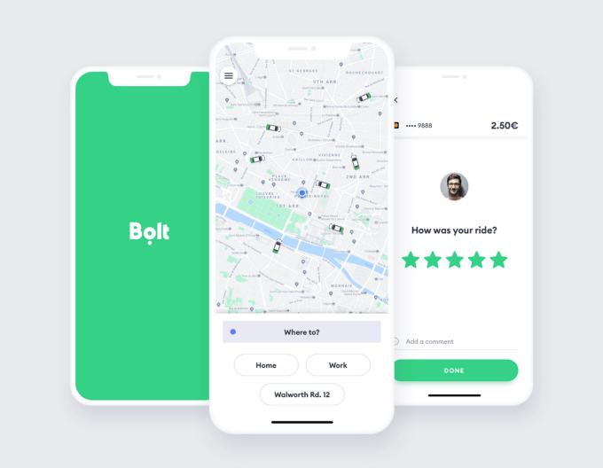 Screeny z aplikacji Bolt