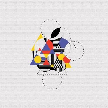Logo Apple (styl Bauhaus) fot. 99design