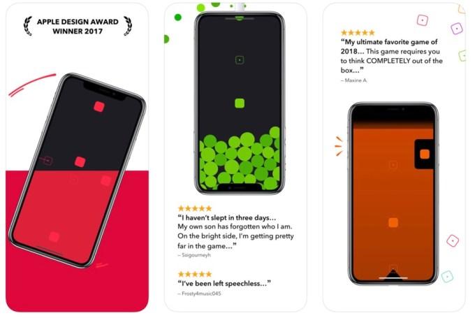 """Zrzut ekranu z aplikacji mobilnej """"Blackbox"""""""
