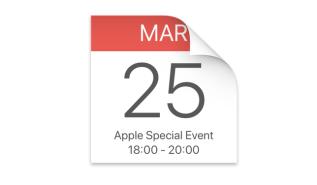 Dodaj do kalendarza 25.03.2019 (Apple Special Event)