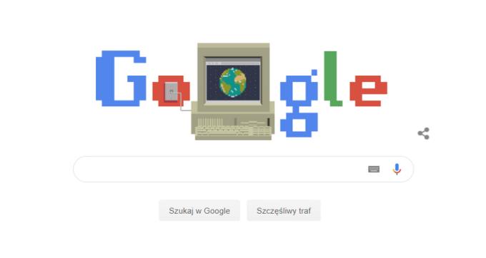Screen Google z grafiką 30. rocznica WWW