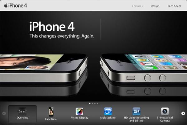 O dziwo oficjalna strona iPhone'a 4 wciąż działa!