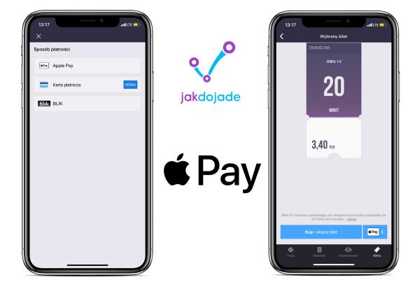 Za bilet w JakDojadę zapłacisz teraz za pomocą ApplePay