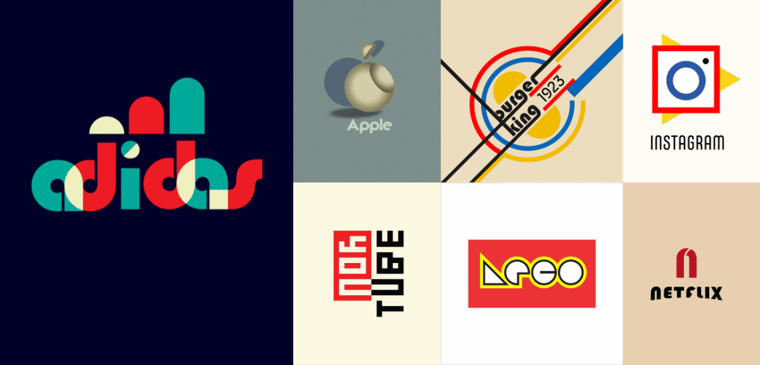 Znane logotypy w stylu Bauhaus