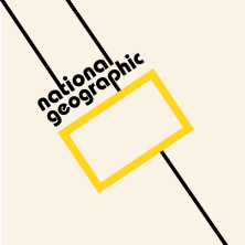 Logo National Geographic (Bauhaus) fot. 99design