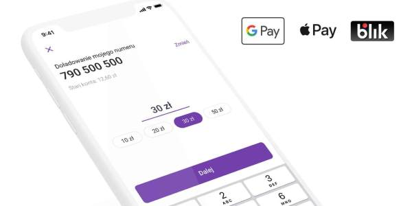 W Play doładujesz konto za pomocą Google Pay i Apple Pay