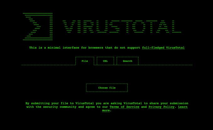 VirusTotal 1337 style