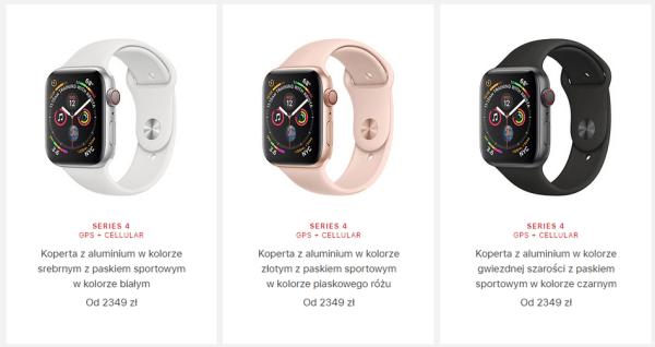 Znamy już ceny Apple Watch (GPS + Cellular) w Polsce