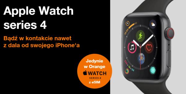 Apple Watch Series 4 z eSIM dostępny w sieci Orange Polska